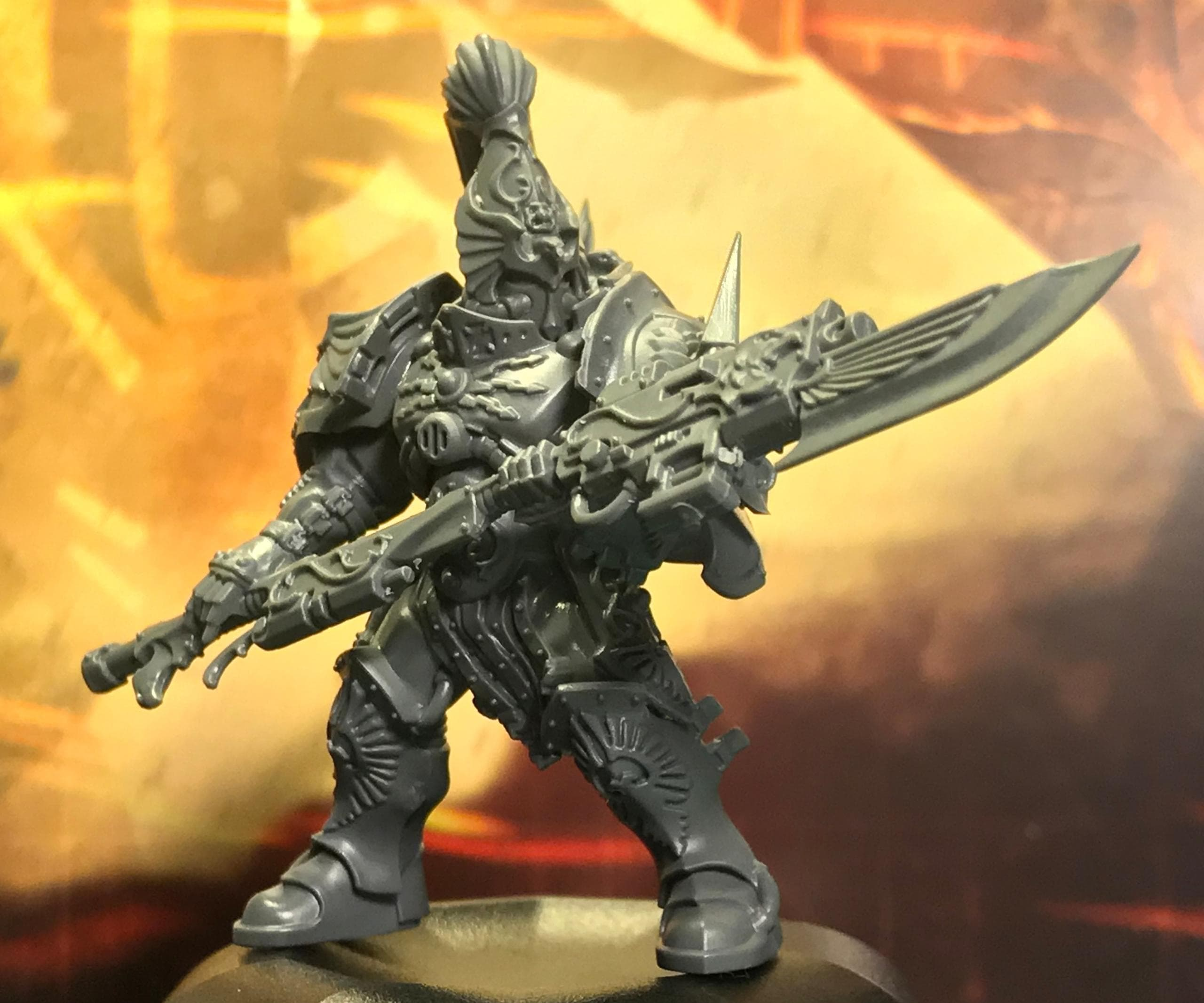 Unpainted Custodian Guard with Guardian Spear Two Hands